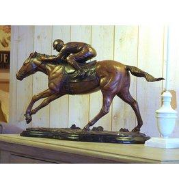 Eliassen Bild Bronze Pferd mit Jockey
