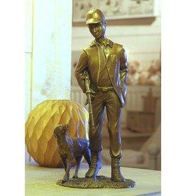 Eliassen Image bronze hunter with dog