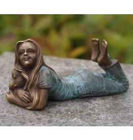 Eliassen Image bronze girl lying