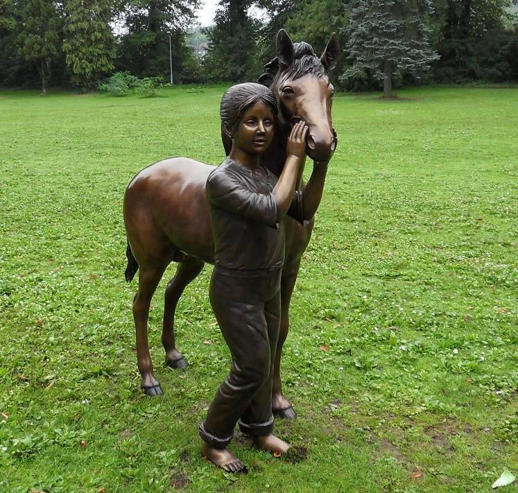 Eliassen Beeld brons meisje met paard