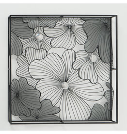 Wall decoration 3d Pansy 75x75cm