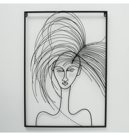 Wall decoration 3d Hairy Girl