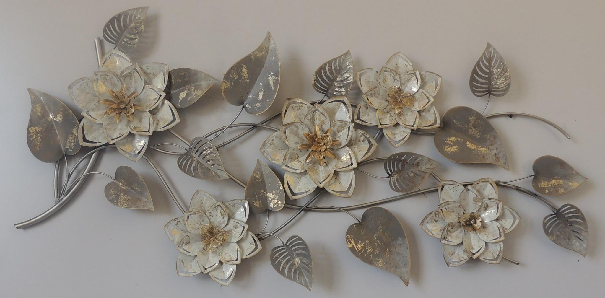 Wanddekoration 3d 5 Blumen 56x125cm