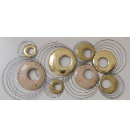 Muurdecoratie 3d  Cirkels  55x112cm