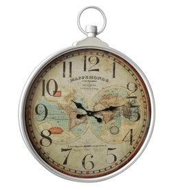 Eliassen Wall clock large around World Map Mappermonde