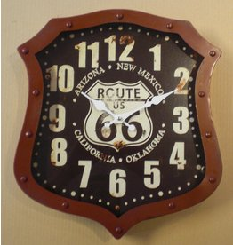 Eliassen Wall clock shield form Route 66