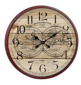 Eliassen Wall clock around a large 80 cm globe
