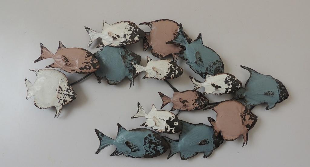 Wanddekoration Metall 3d Fisch