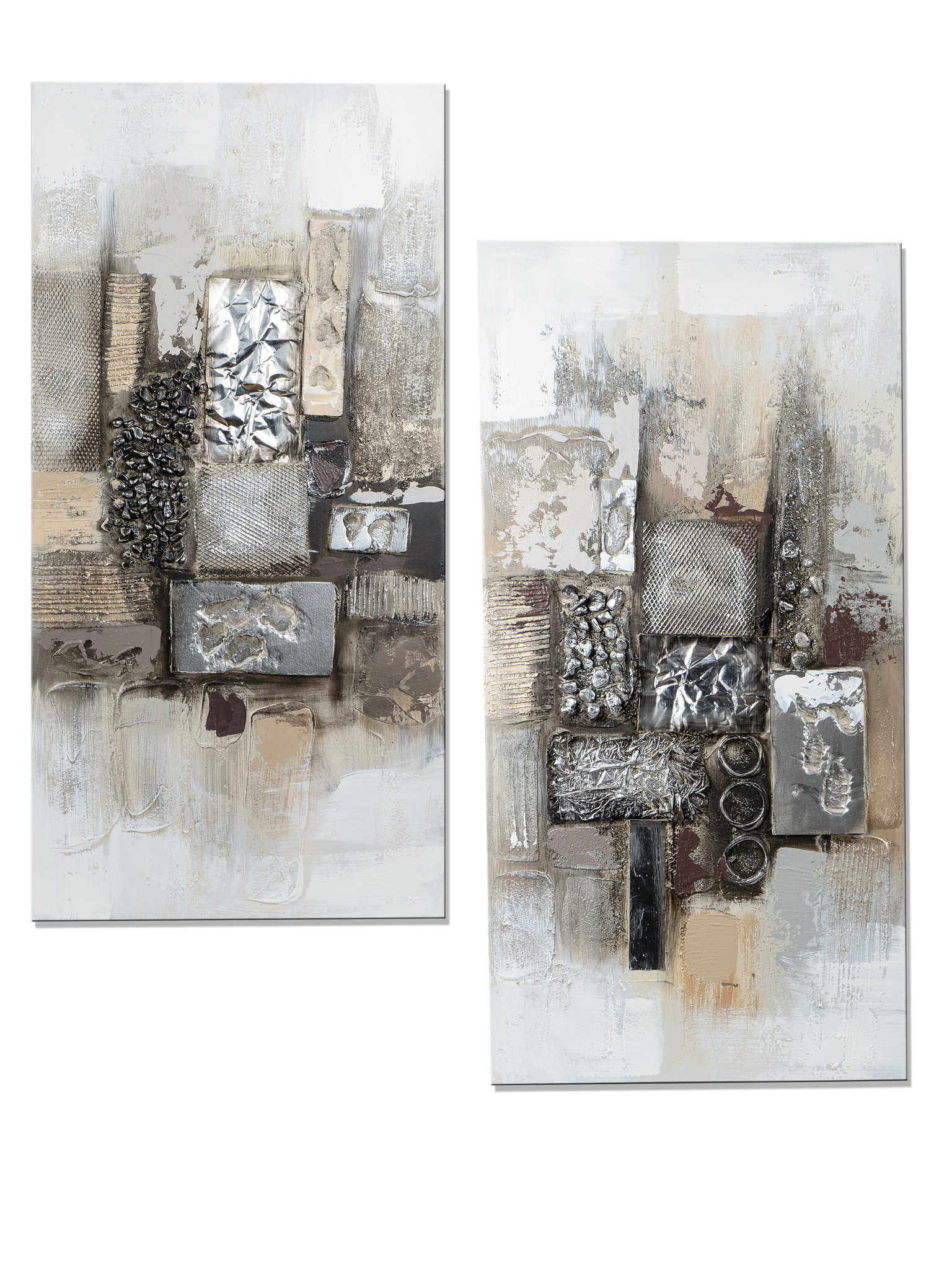 Oil paintings set Diptych Modern Antiques