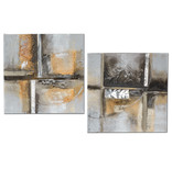 Oil paint set diptych Abstract 2