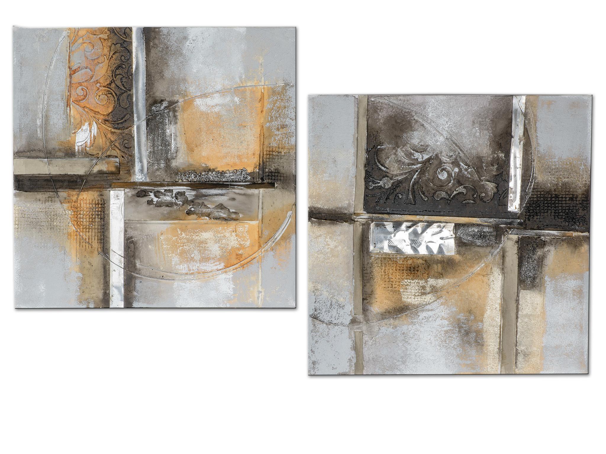 Ölfarben Set Diptychon Abstract 2