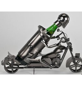 Wine bottle holder Motorcyclist large