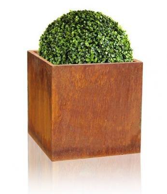Blumenkasten 60x60x60cm Cortenstahl quadratisch