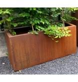Flower box corten steel rectangle 80 cm