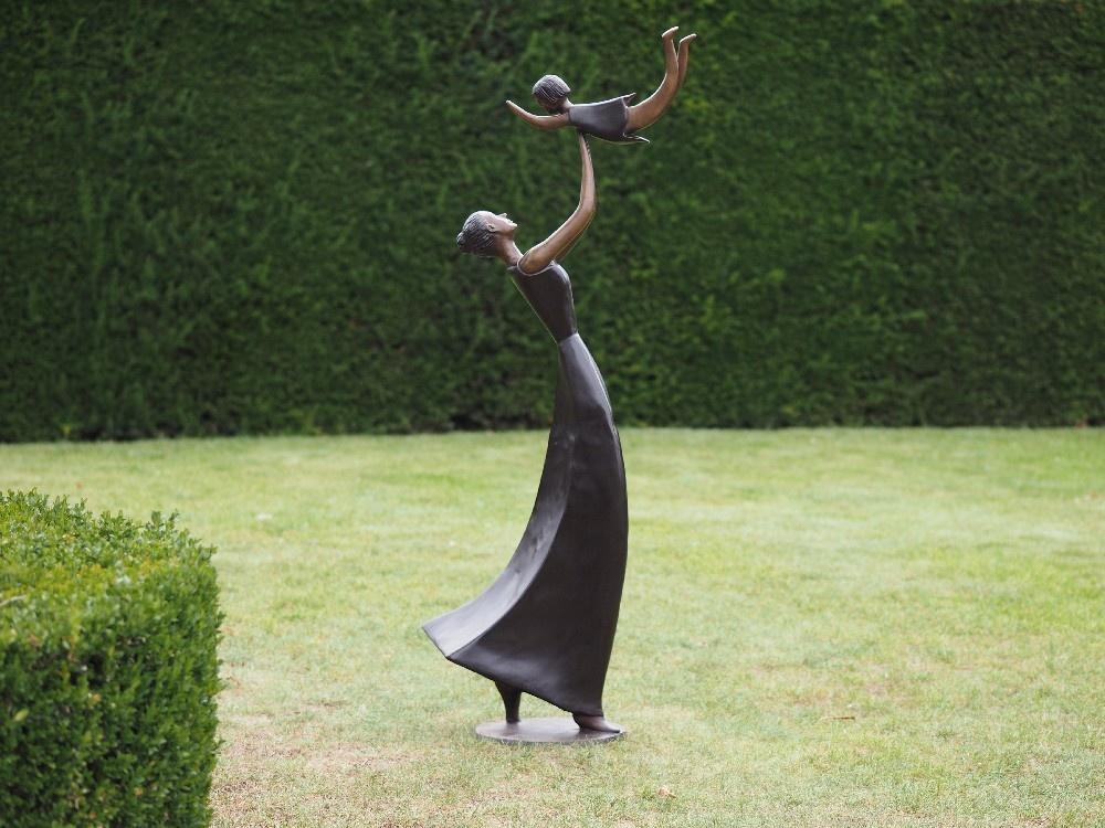 Bronze Mutter mit Kind