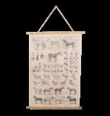 Eliassen Wandkarte Pferde 100x75 cm