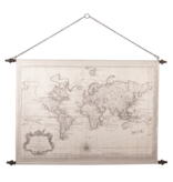 Eliassen Wall map Wereld2 130x87cm