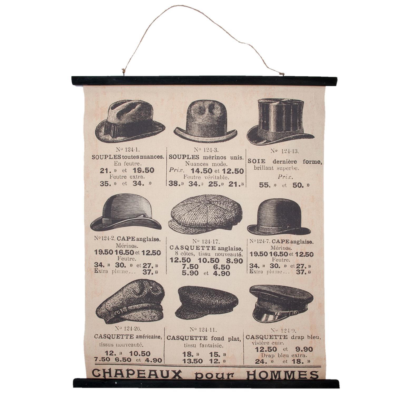Eliassen Wall card Hats 80x100cm