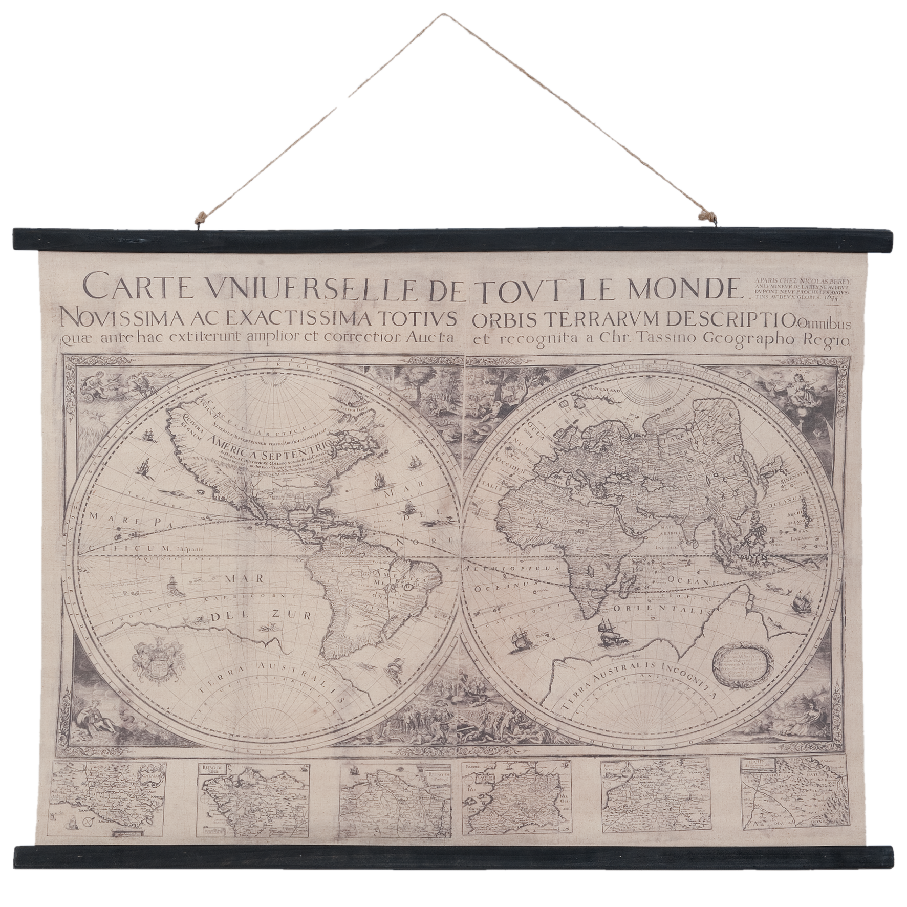 Eliassen Wall map Wereld3 105x76cm - Copy