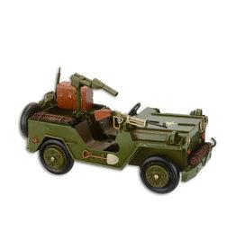 Eliassen Miniatuurmodel blik Jeep met geweer