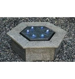 Eliassen Terrace fountain Hexagon granite