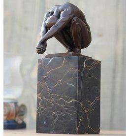 Eliassen Beeld brons duiker op sokkel
