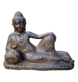 Eliassen Beeld boeddah relaxend in 3 maten
