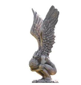 Eliassen Tuinbeeld engel voorovergebogen groot