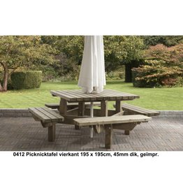 Talen Staphorst Picknicktafel vierkant groot