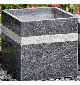 Kubuspot graniet met streep