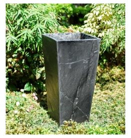 Tall planter black slate
