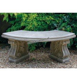 Dragonstone Garden bench Small Curved Bench