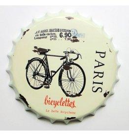 Eliassen Bierdop muurdecoratie Bicyclettes
