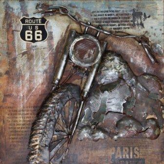 Eliassen 3D schilderij metaal 100x100cm Route 66
