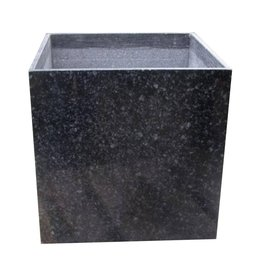 Black granite planter