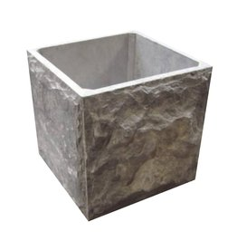 rough stone planter