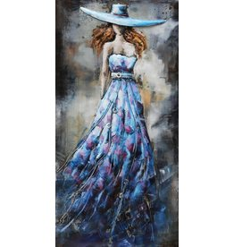 Eliassen 3D painting metal 70x140x7cm Lady Blue