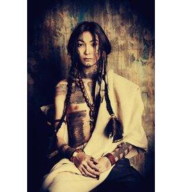 Eliassen Glass-painting 120x80cm Indian Girl