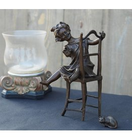 Eliassen Image bronze girl on chair