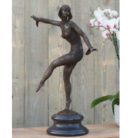 Eliassen Beeld brons danseres girl art deco 66 cm