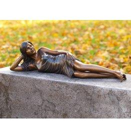 Eliassen Beeld brons liggend meisje