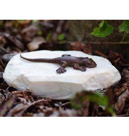 Eliassen Figurine bronze lizard on stone