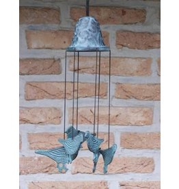 Eliassen Windspiele Bronze mit Vögeln