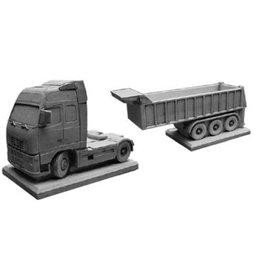 Eliassen Bloembak betonnen Volvo met trailer