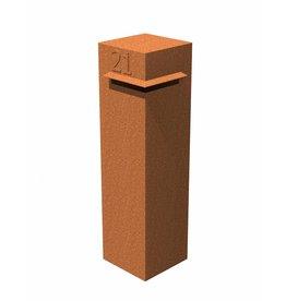 Adezz Producten Letterbox Ivar Adezz corten steel