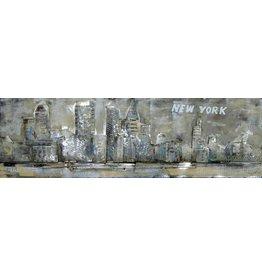 Eliassen 3D-Malerei Metall 50x150cm New York
