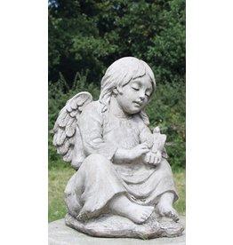 Dragonstone Tuinbeeld engel met vogel