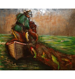 Eliassen 3D painting metal 120x100cm Visser