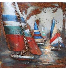Eliassen Metal painting 3d 100x100cm Regatta 3