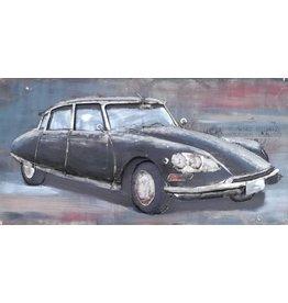 Eliassen Metalen schilderij 3d 140x70cm Citroen DS